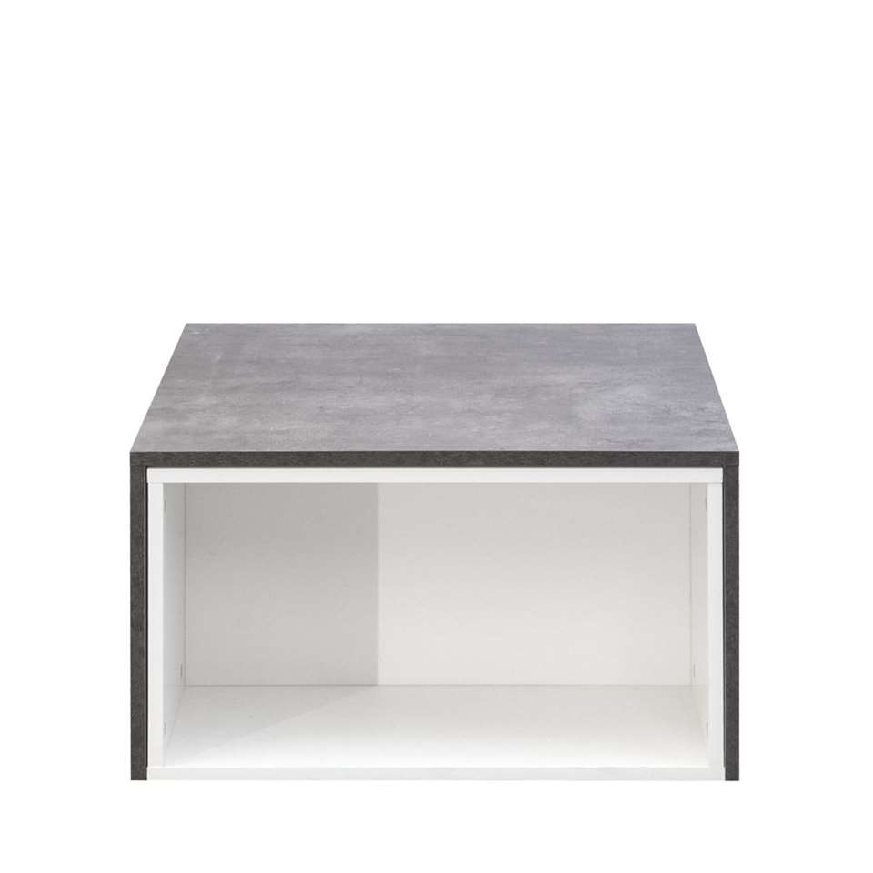Symbiosis table de salon Halse - blanche/gris béton - 38,1x65x67 cm