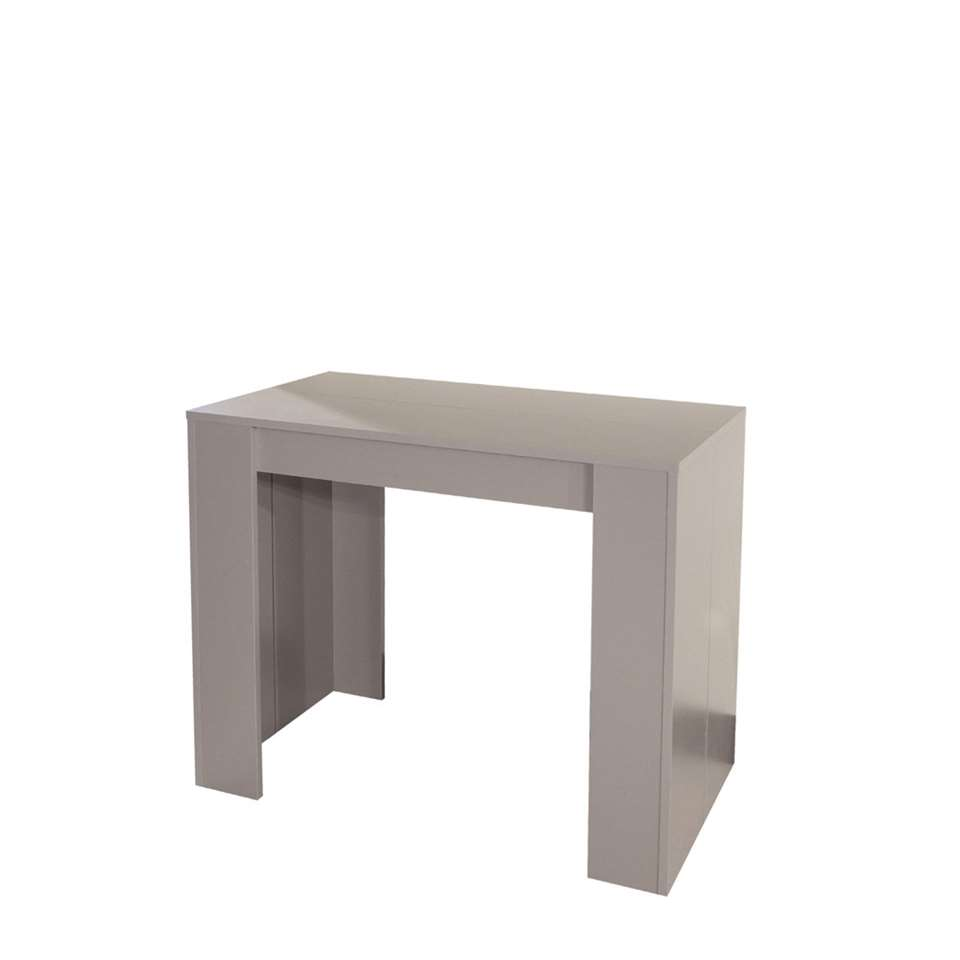 Symbiosis Consoletable Extensible Ruste Taupe 74x49 198x91 Cm