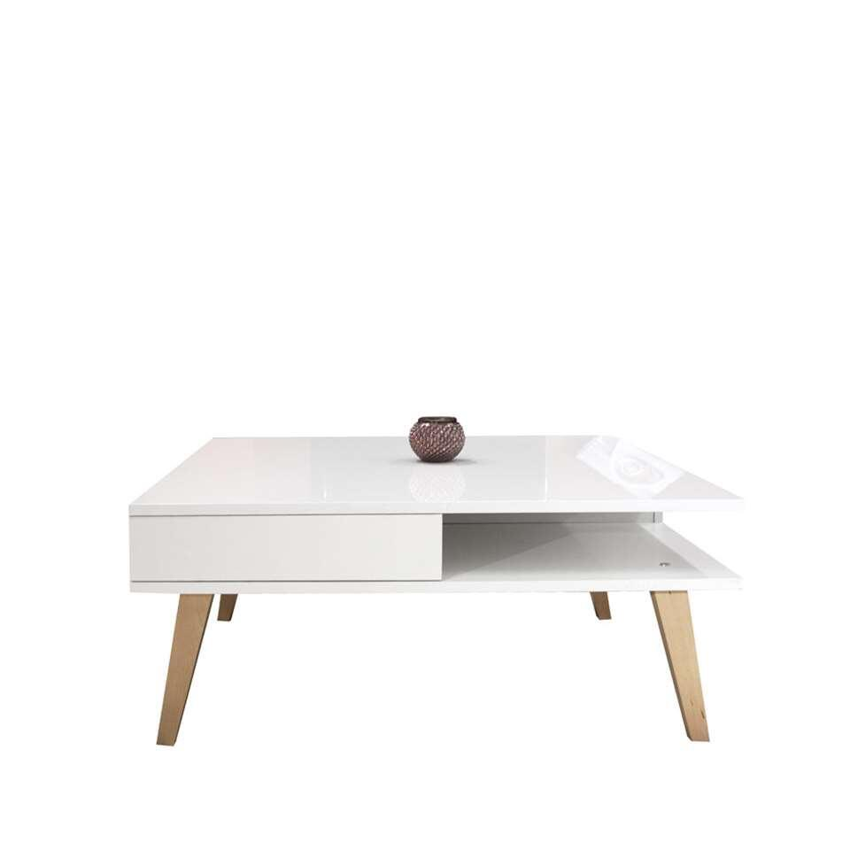 Symbiosis table de salon Dokka - blanche - 36x89x89 cm