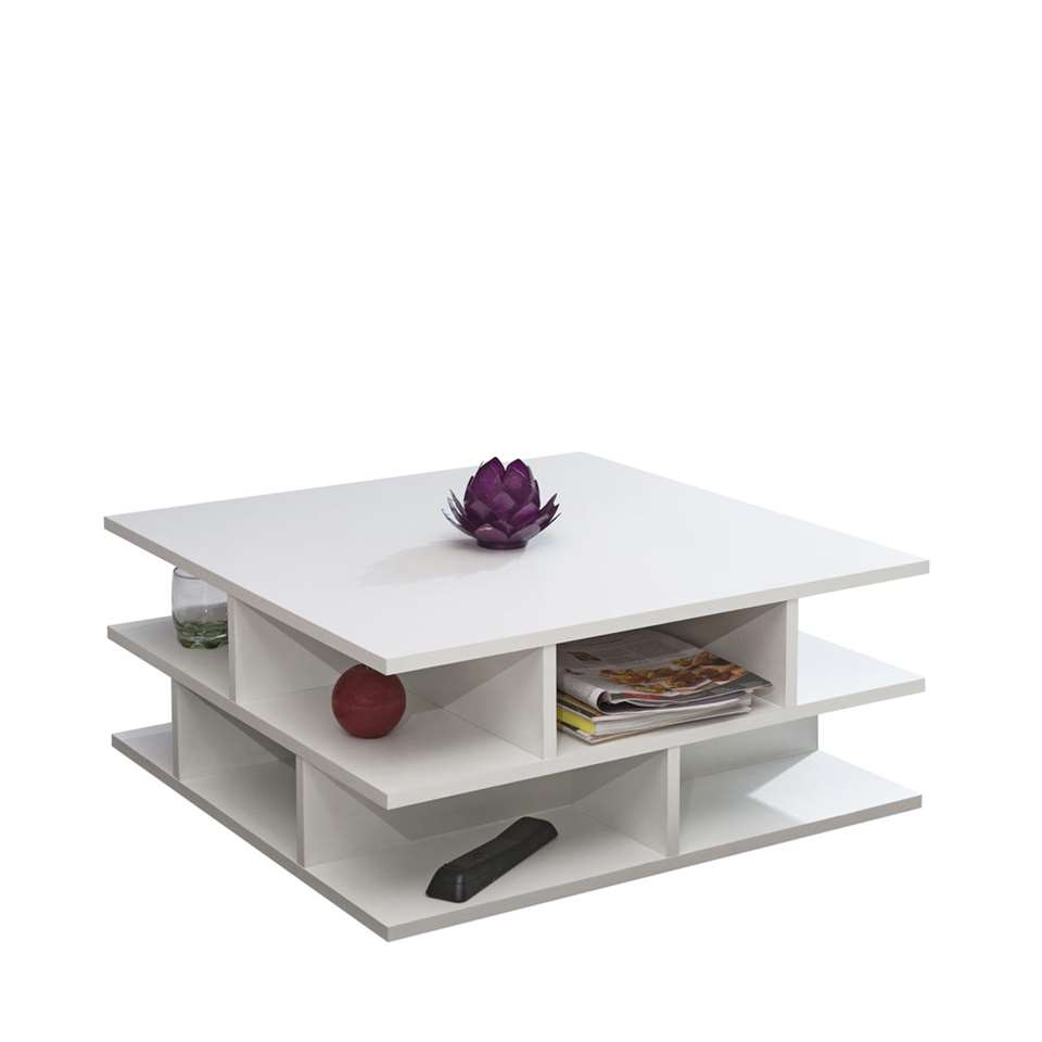 Symbiosis table de salon Ligarda - blanche -28,9x70x70 cm
