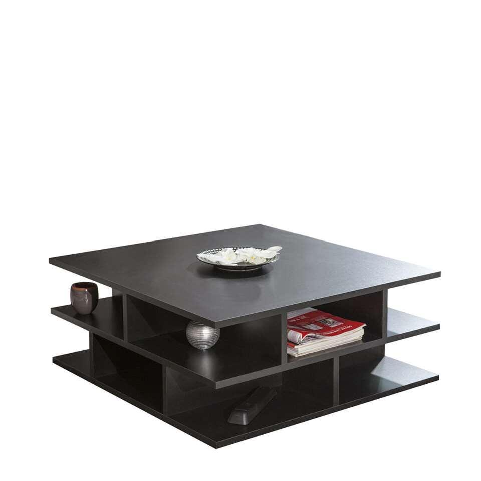 Symbiosis salontafel Ligarda - zwart - 28,9x70x70 cm