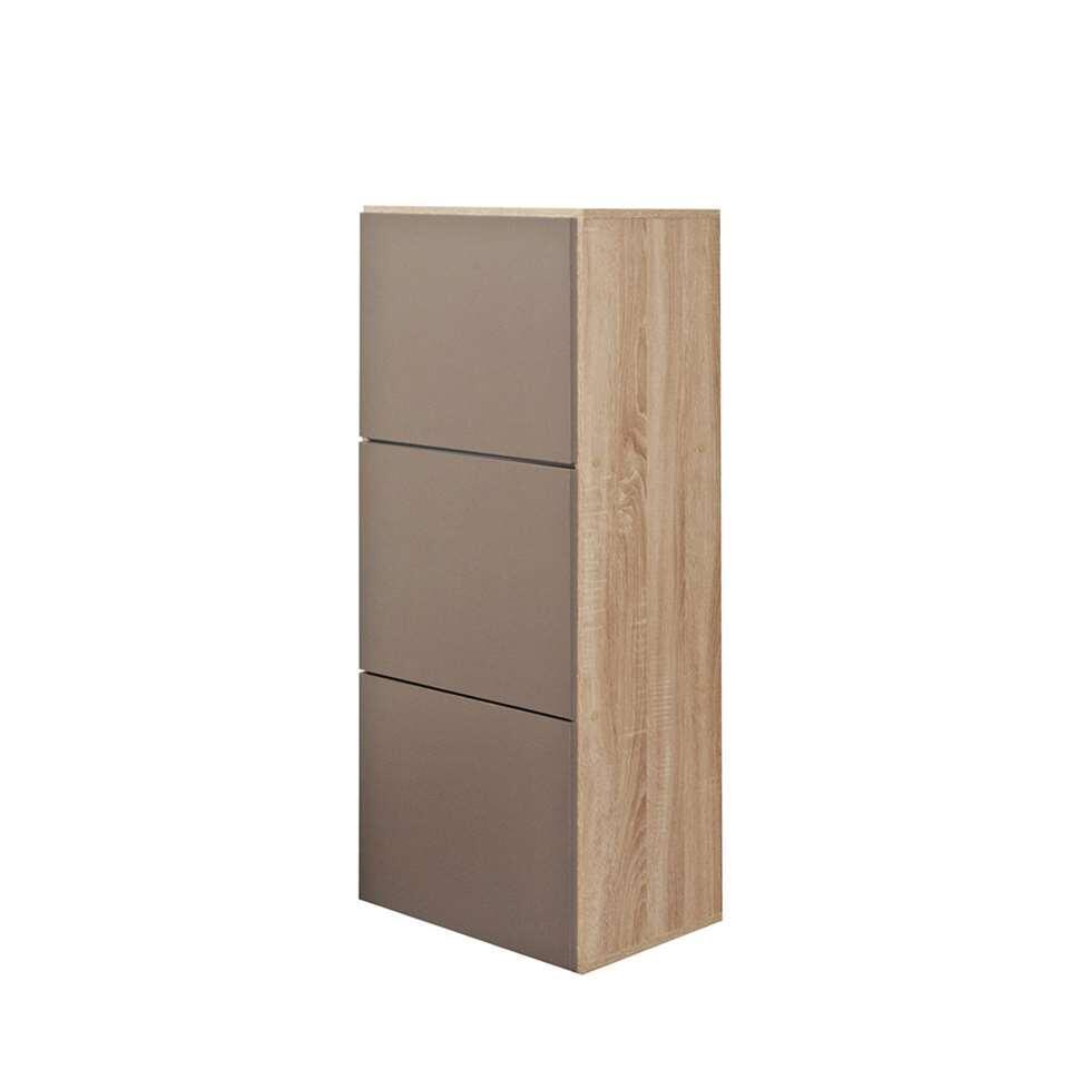 symbiosis armoire chaussures narup couleur ch ne taupe 118 7x50x33 1 cm. Black Bedroom Furniture Sets. Home Design Ideas