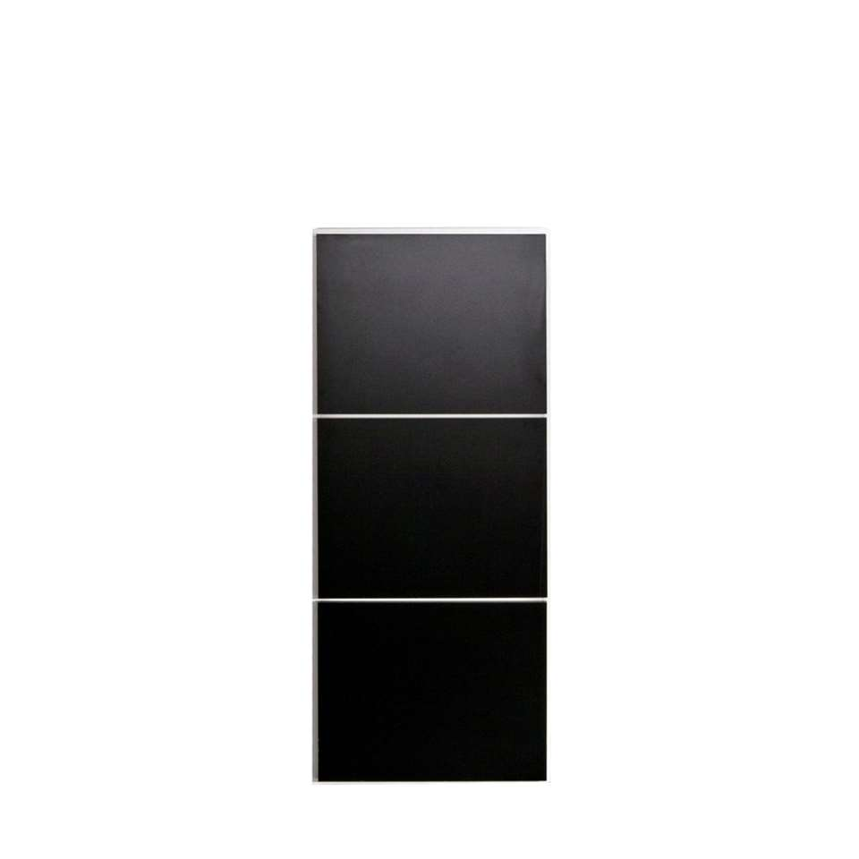 Symbiosis schoenenkast Narup - wit/zwart - 118,7x50x33,1 cm