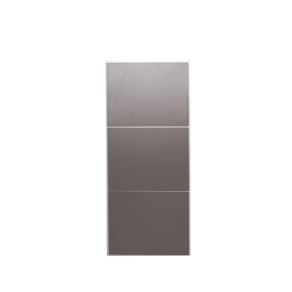 Symbiosis schoenenkast Narup - wit/taupe - 118,7x50x33,1 cm