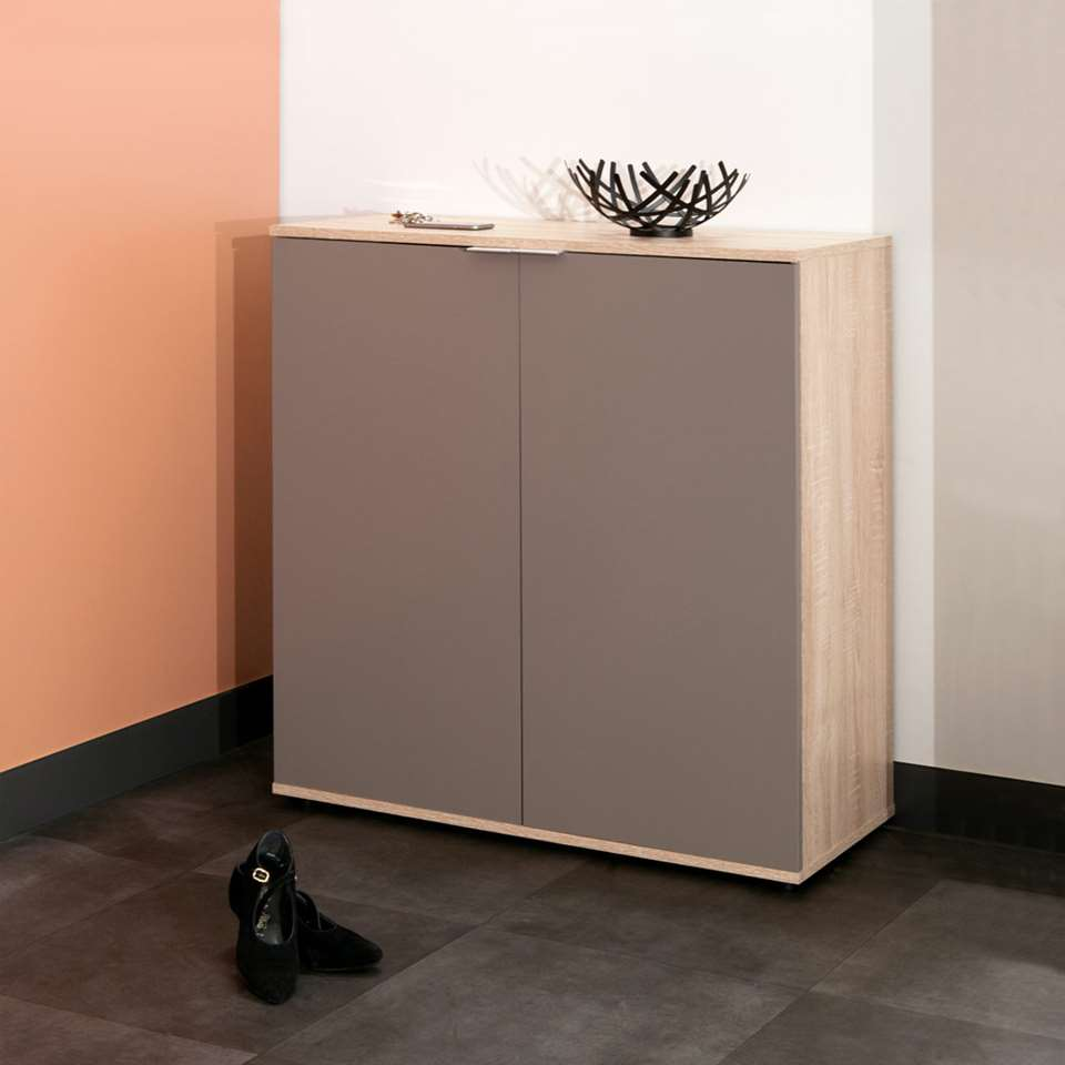 symbiosis armoire chaussures ellinge couleur ch ne taupe 93 9x93x37 cm. Black Bedroom Furniture Sets. Home Design Ideas