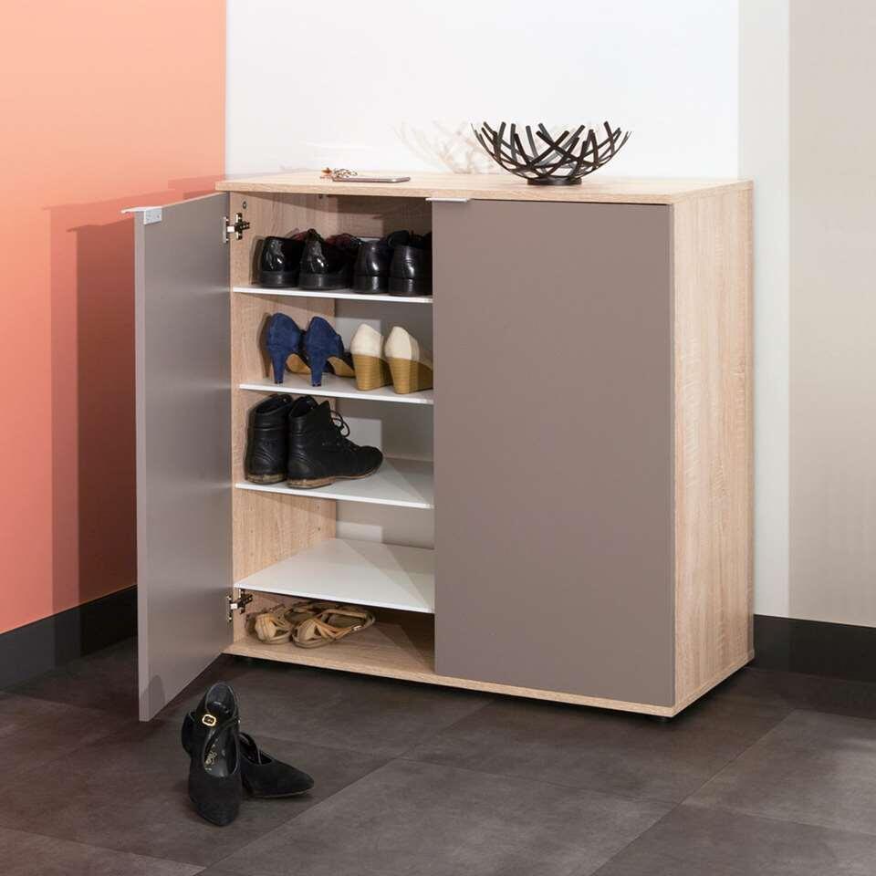 symbiosis armoire chaussures ellinge couleur ch ne taupe 93 9x93x37 cm. Black Bedroom Furniture Sets. Home Design Ideas