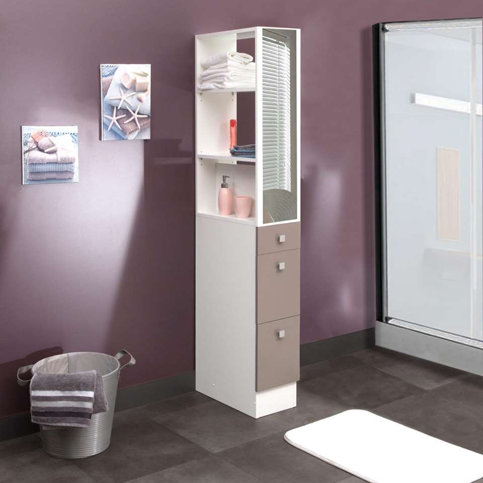 symbiosis el ment de s paration munkebo pour rangement de salle de bains blanc taupe. Black Bedroom Furniture Sets. Home Design Ideas