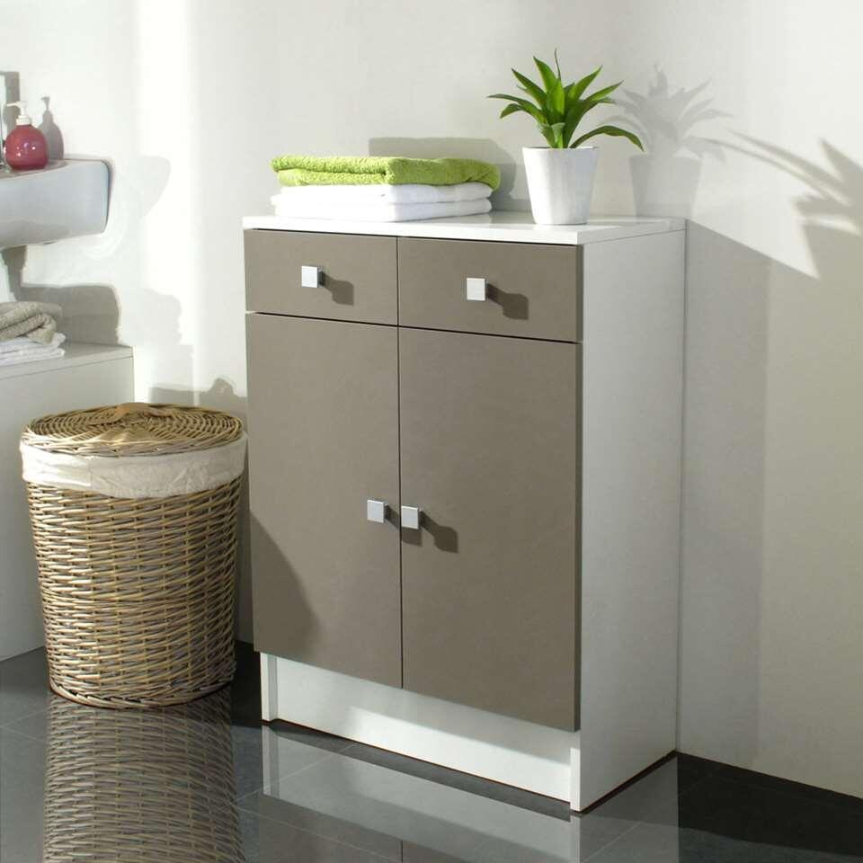 symbiosis rangement sous lavabo otterup blanc taupe. Black Bedroom Furniture Sets. Home Design Ideas