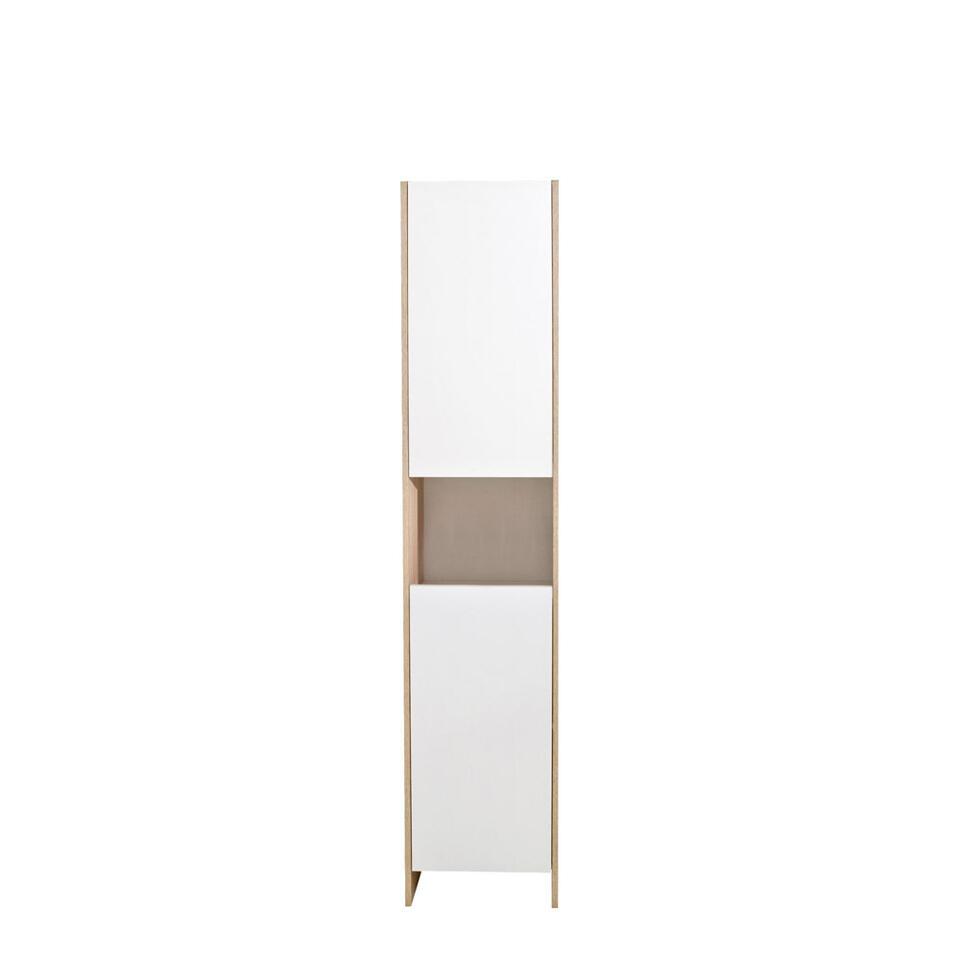 Symbiosis rangement de salle de bains Bogeskov - blanc/couleur chêne - 180x38,2x28 cm