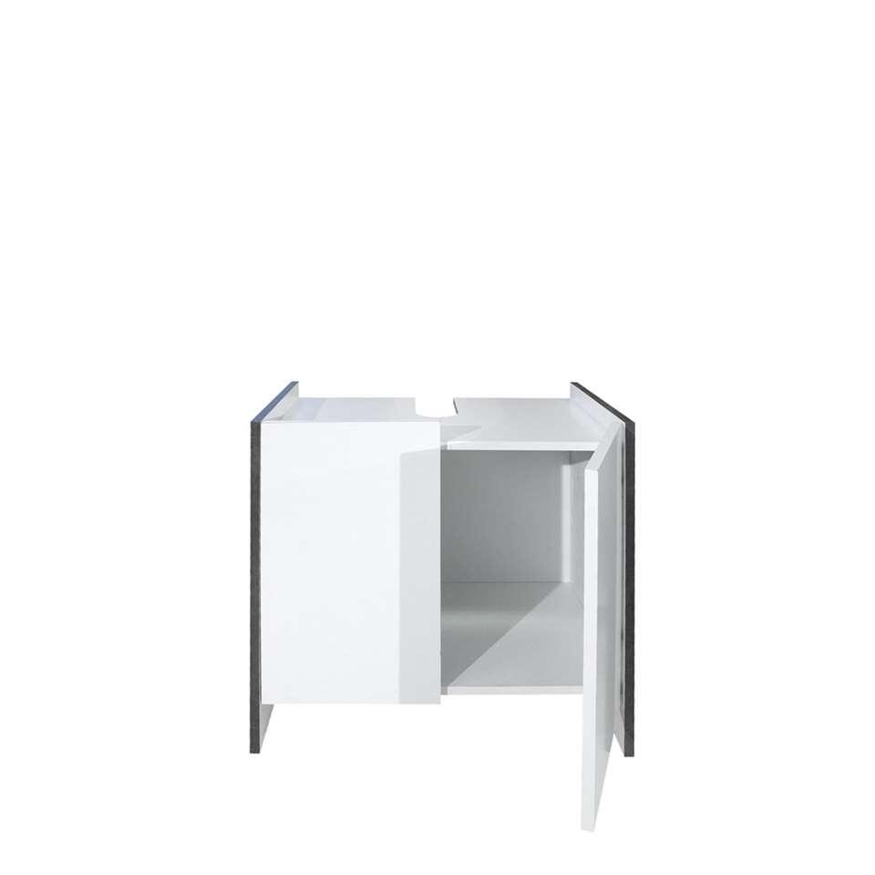 symbiosis rangement sous lavabo brandbjerg blanc gris. Black Bedroom Furniture Sets. Home Design Ideas