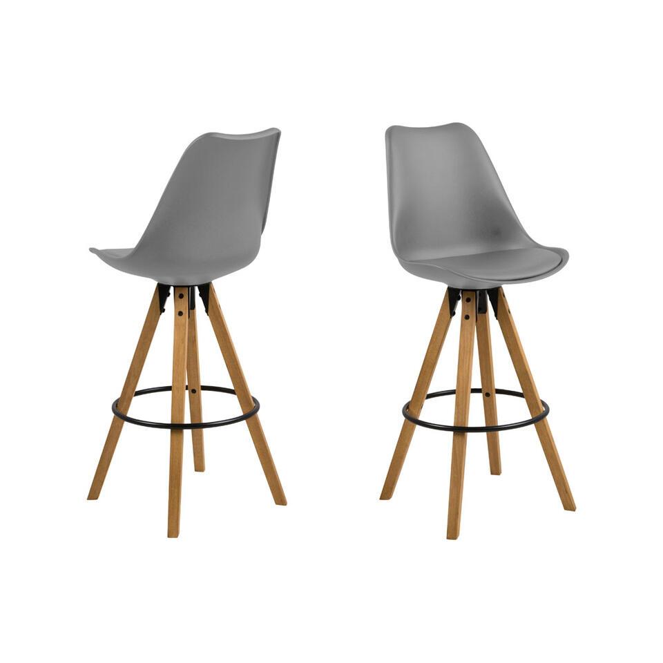 Barkruk Verdal is een trendy, Scandinavische kruk met een zithoogte van 75 cm. Kruk Verdal is vervaardigd uit kunststof en rubberhout.