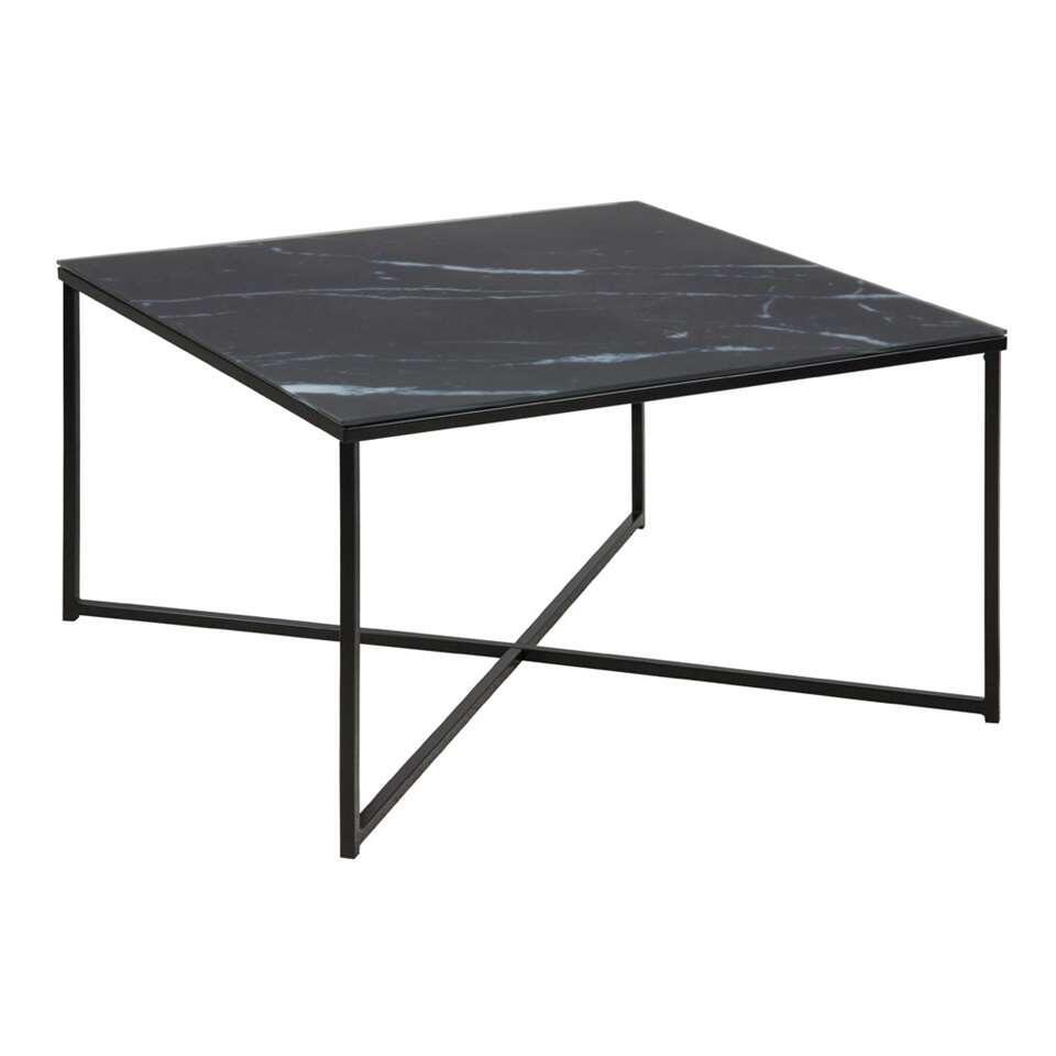 La table de salon Ostana est une table moderne avec une forme carré pratique. Cette table de salon est fabriquée à partir de verre et a un élégant look de marbre. Tout à fait dans l'air du temps!