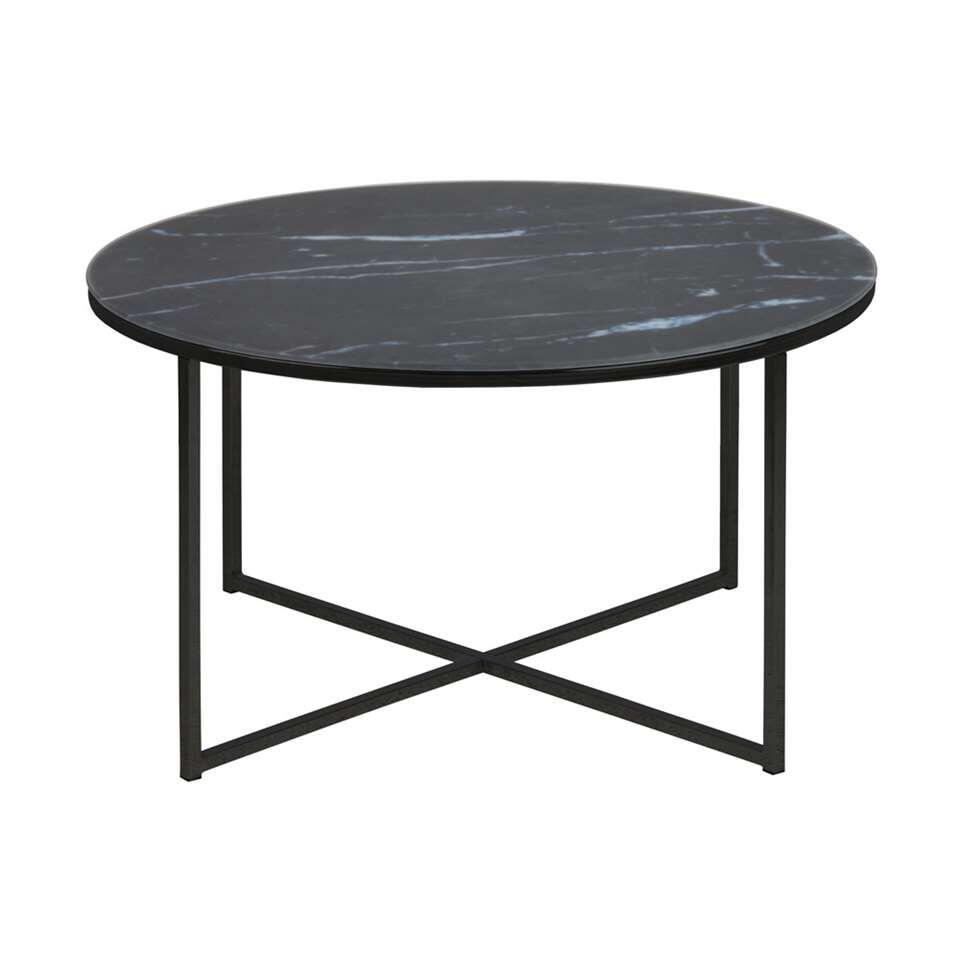 Table de salon Ostana - noire - Ø80x45 cm