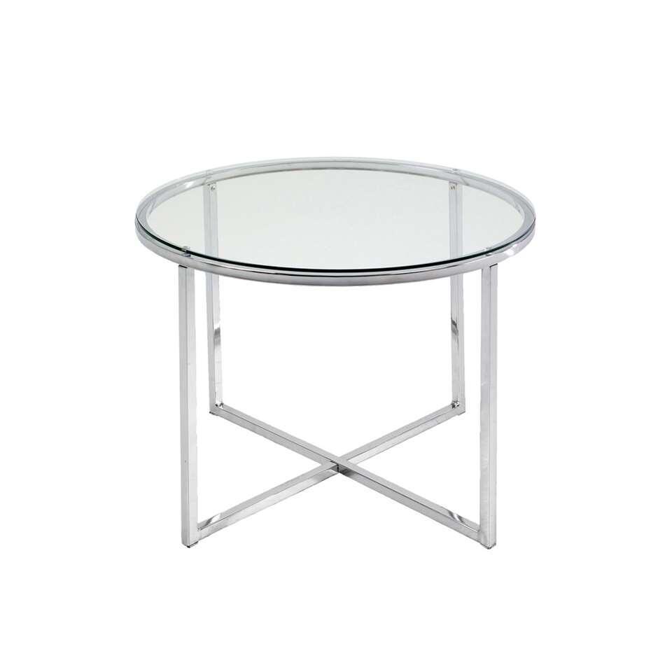Table de chevet Indor - verre - 45x55 cm