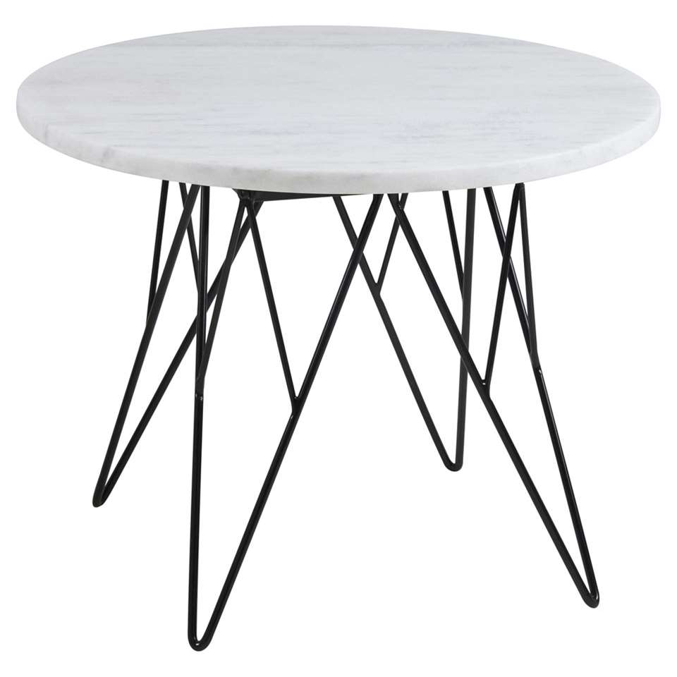 Table de chevet Elvdal - blanche - 41,4xØ55 cm