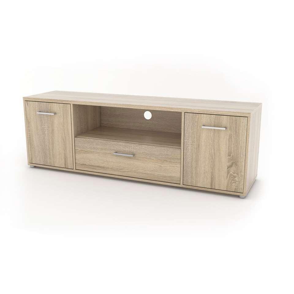 TV-meubel Uldum - eikenkleur - 39,1x155,6x50,9 cm