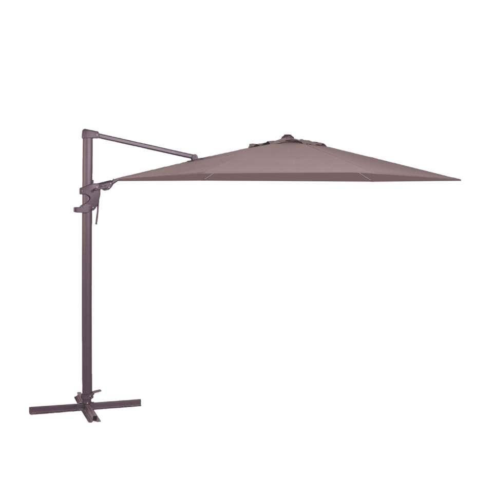 Madison parasol Monaco Flex - taupe - Ø330 cm - Leen Bakker