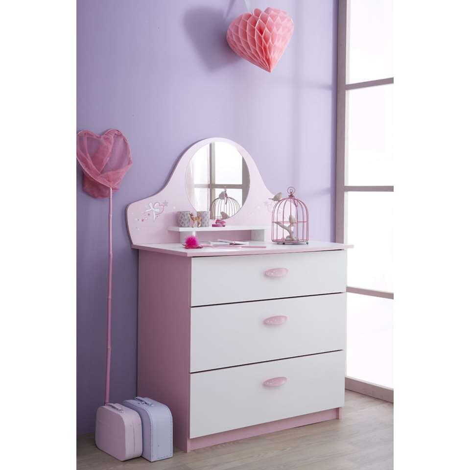 Demeyere commode Papillon 3 tiroirs - rose/blanche