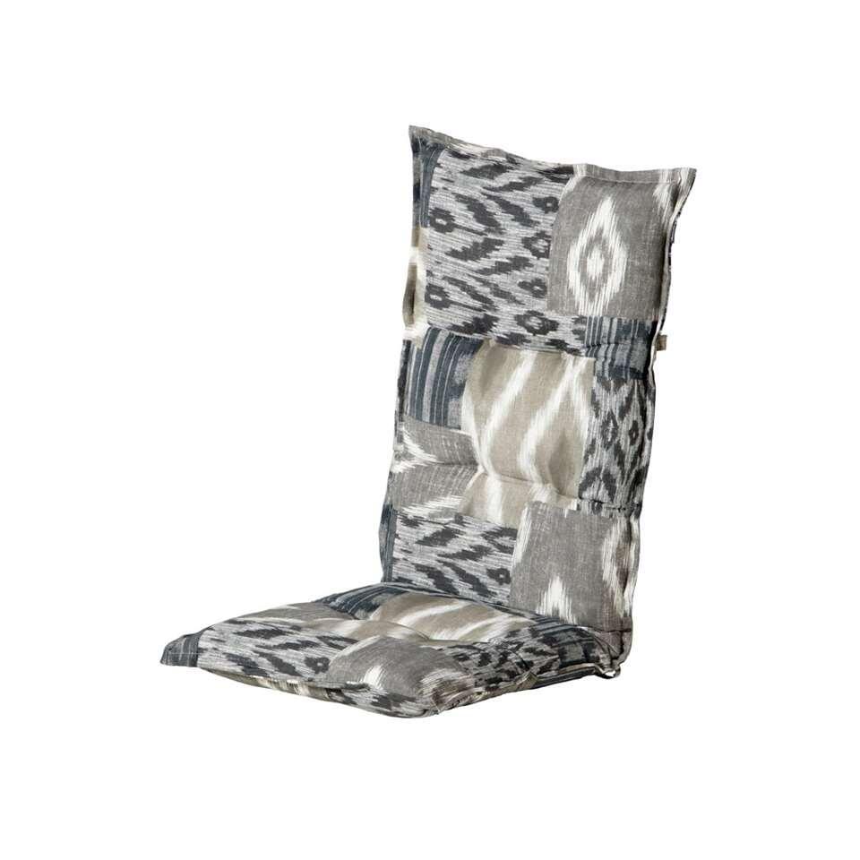 Hartman terrasstoelkussen Fox Grey - grijs - 123x50x10 cm - Leen Bakker