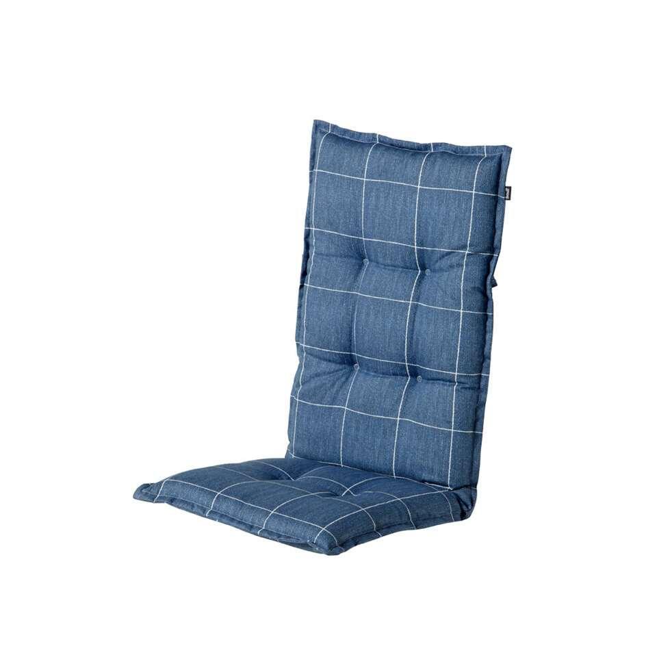Hartman terrasstoelkussen Robyn - blauw - 123x50x8 cm - Leen Bakker