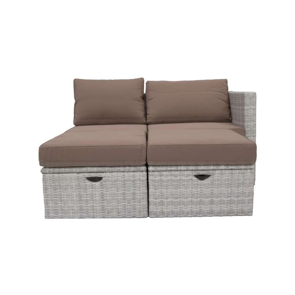 Loungezetel Santa Maria - grijs - 70 x70x69 cm - Leen Bakker