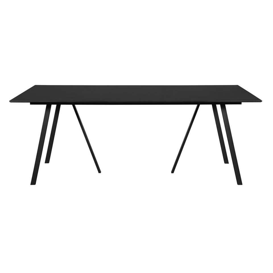 Envy tafel Odis - zwart - 200x100x74 cm - Leen Bakker