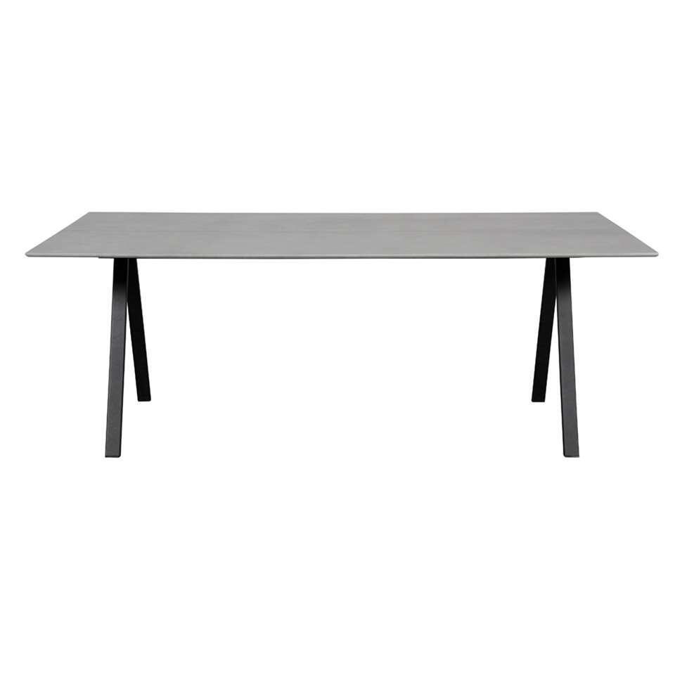 Envy eettafel Melby - zwart - 205x100x74 cm - Leen Bakker