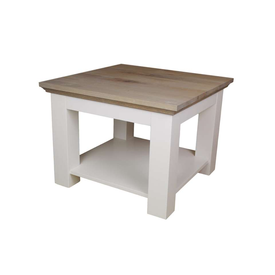 Salon Tafel Vierkant Wit.Hsm Collection Salontafel Provence Grijs Eiken Wit 60x60x45 Cm