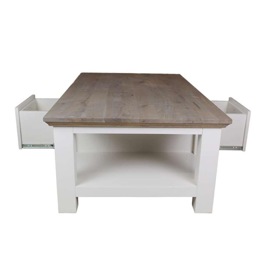 Salontafel Wit Grijs.Hsm Collection Salontafel Provence Grijs Eiken Wit 130x75x45 Cm