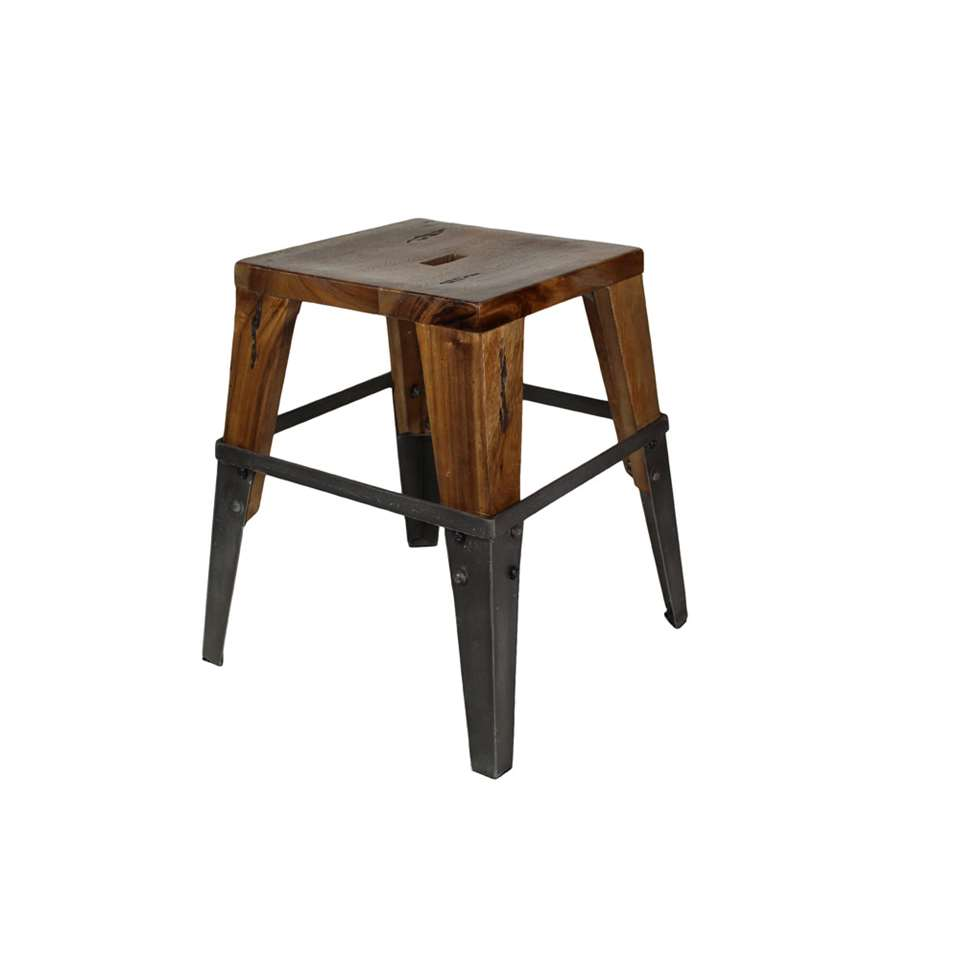 HSM Collection tabouret Sagmore - brun / noir - large