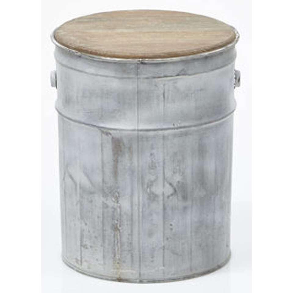 HSM Collection tabouret Tin - gris ancien