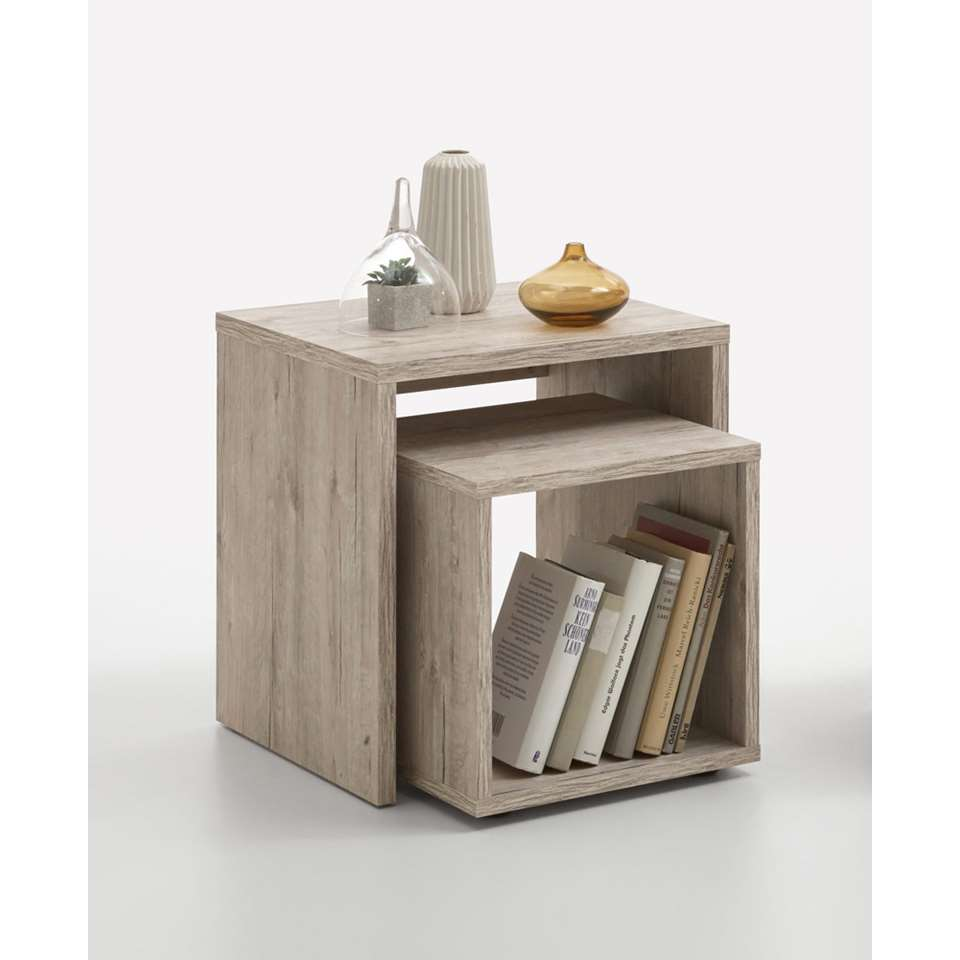 Table de chevet Duo - coloris sable