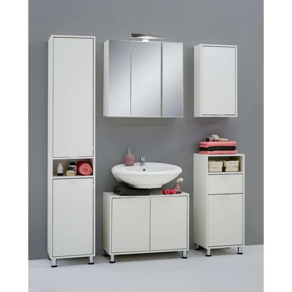 Badkamerkast muur Zamora - wit - 68x37x17 cm