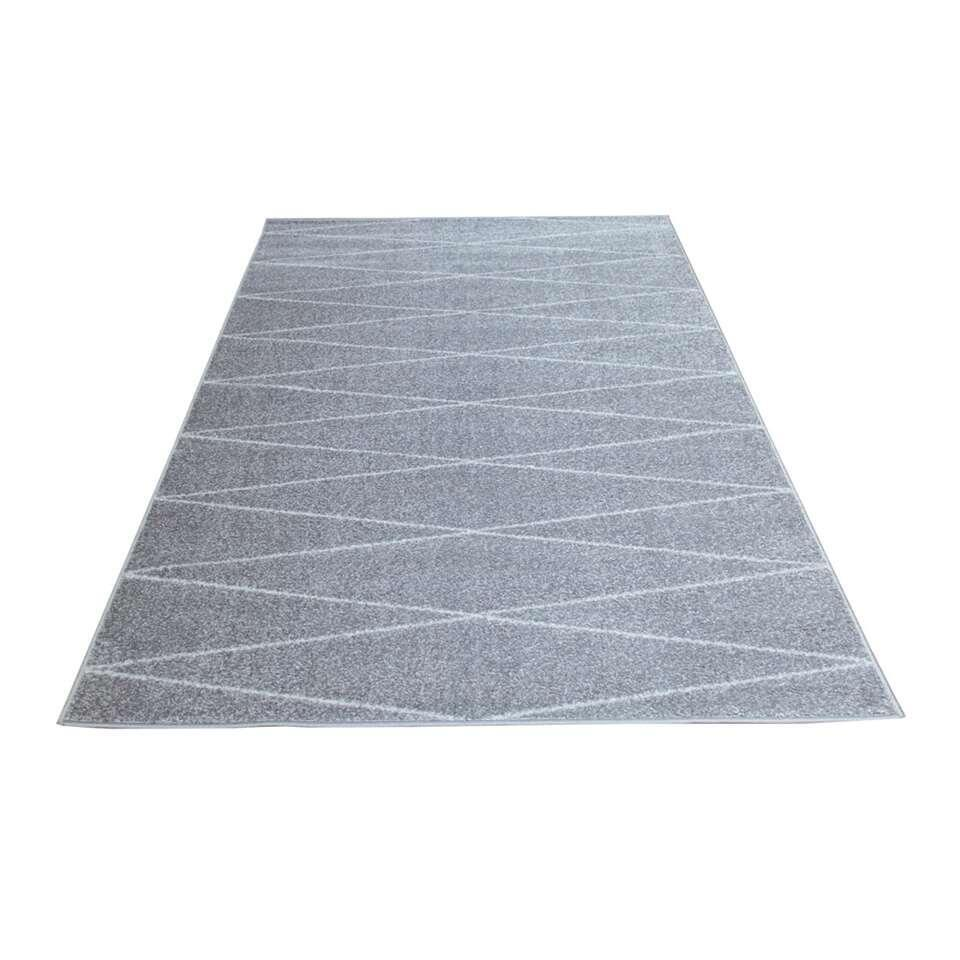 Tapijt Florence etnisch - grijs - 160x230 cm