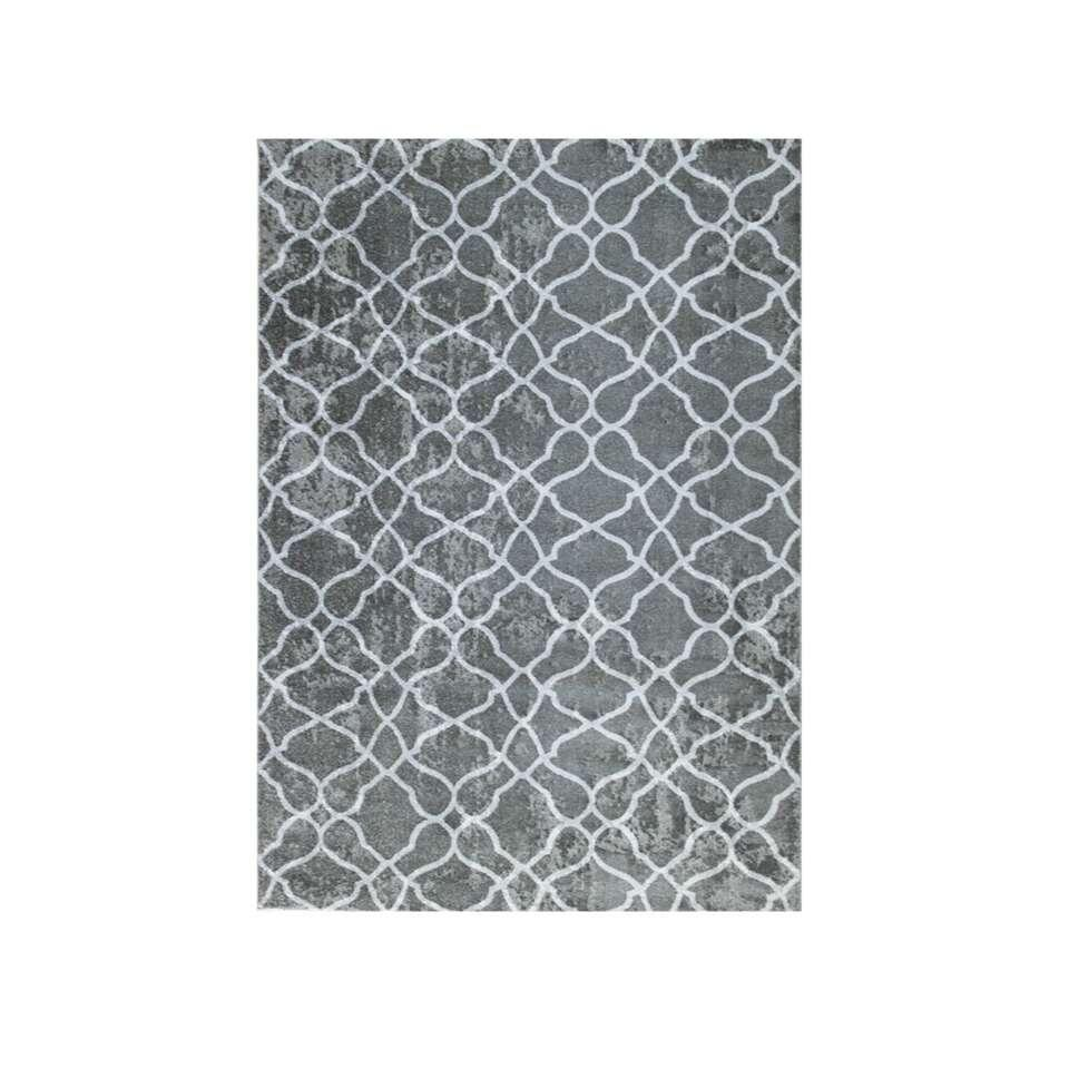 tapis structura gris fonc 200x290 cm. Black Bedroom Furniture Sets. Home Design Ideas