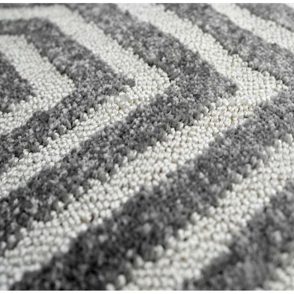 tapis structura g om trique gris blanc 160x230 cm. Black Bedroom Furniture Sets. Home Design Ideas