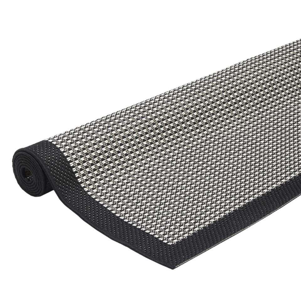 floorita tapis pour int rieur ext rieur chrome noir 134x190 cm. Black Bedroom Furniture Sets. Home Design Ideas