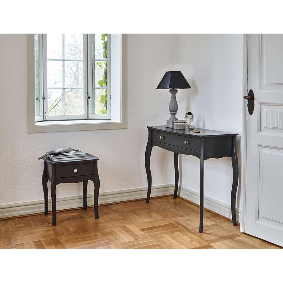 Table de nuit baroque gris fonc - Table de nuit bois fonce ...