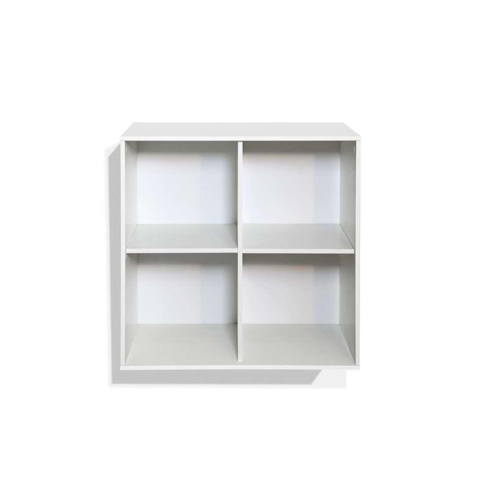 Bibliothèque Boxy 4 compartiments - blanc - 73,8x73,8x34,8 cm
