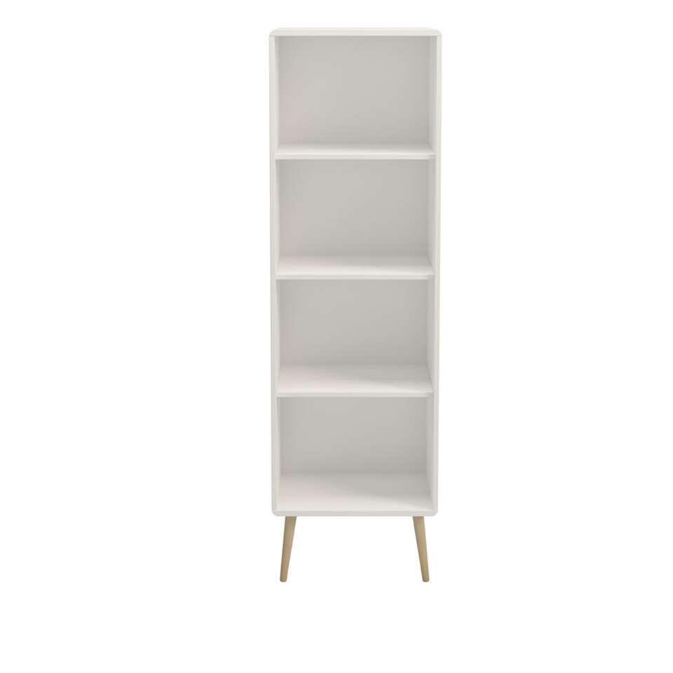 Boekenkast Soft Line smal - wit - 166x49x33,2 cm