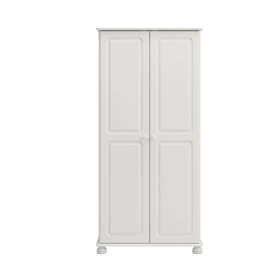 armoire linge richmond 2 portes blanc 185 1x88 2x57 cm. Black Bedroom Furniture Sets. Home Design Ideas