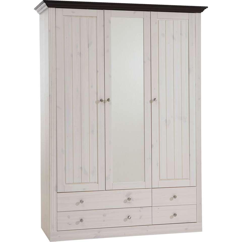 armoire linge monaco 3 portes blanc patin. Black Bedroom Furniture Sets. Home Design Ideas