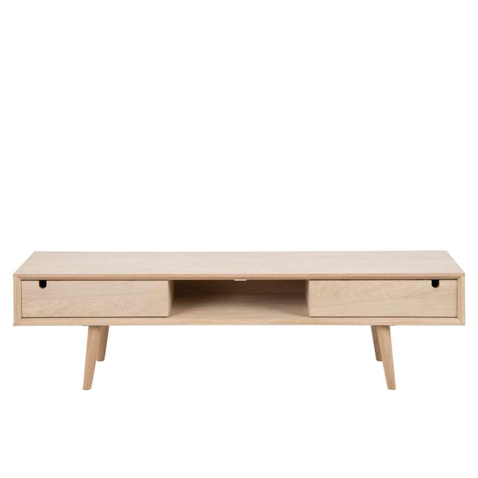 Verwonderlijk TV-meubel Bess - wit/eiken - 50x114x43 cm EF-23
