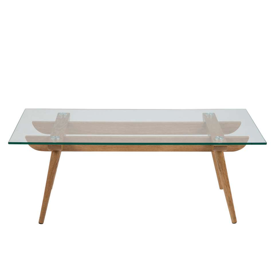 Table de salon Lysta - verre - 110x60 cm