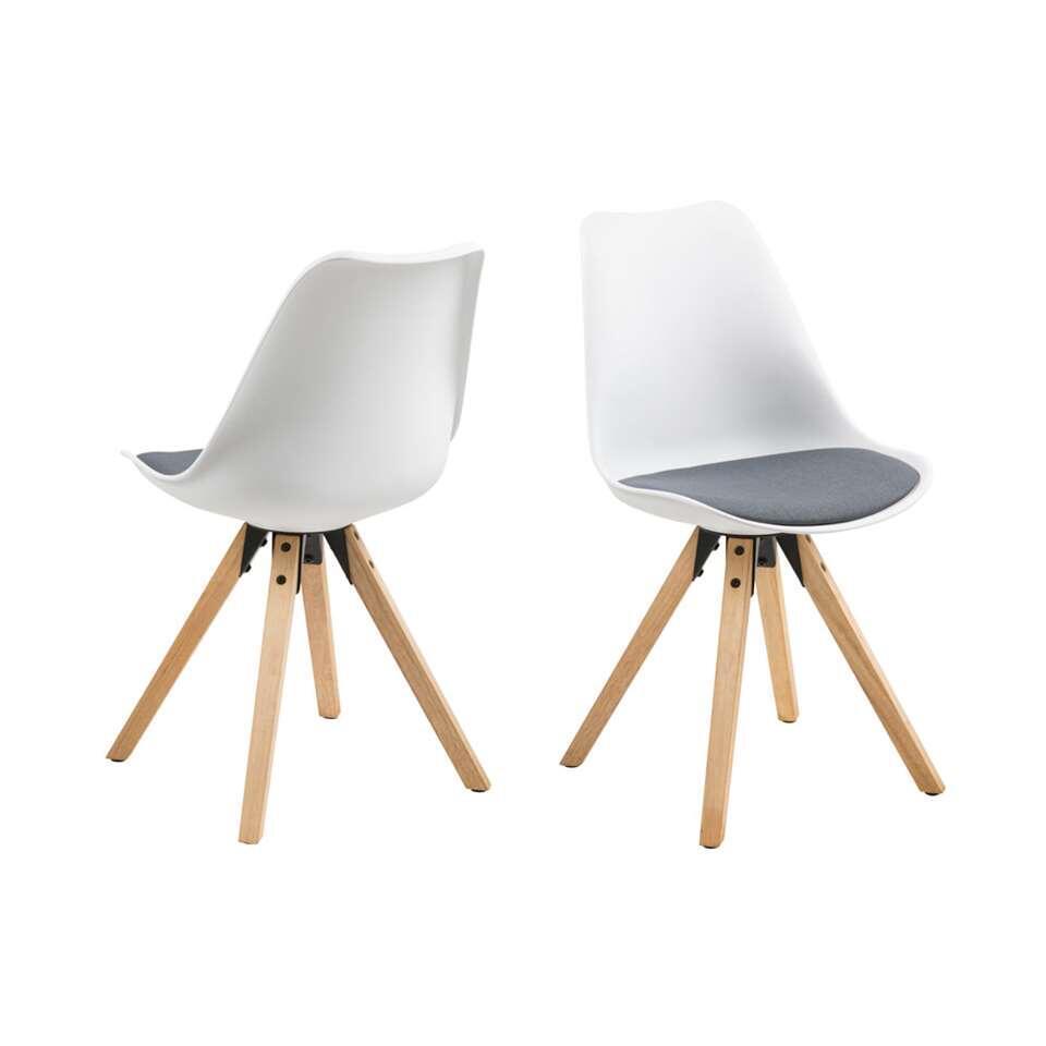 Chaise de salle à manger Verdal - plastique - blanc / gris foncé (deux pièces)