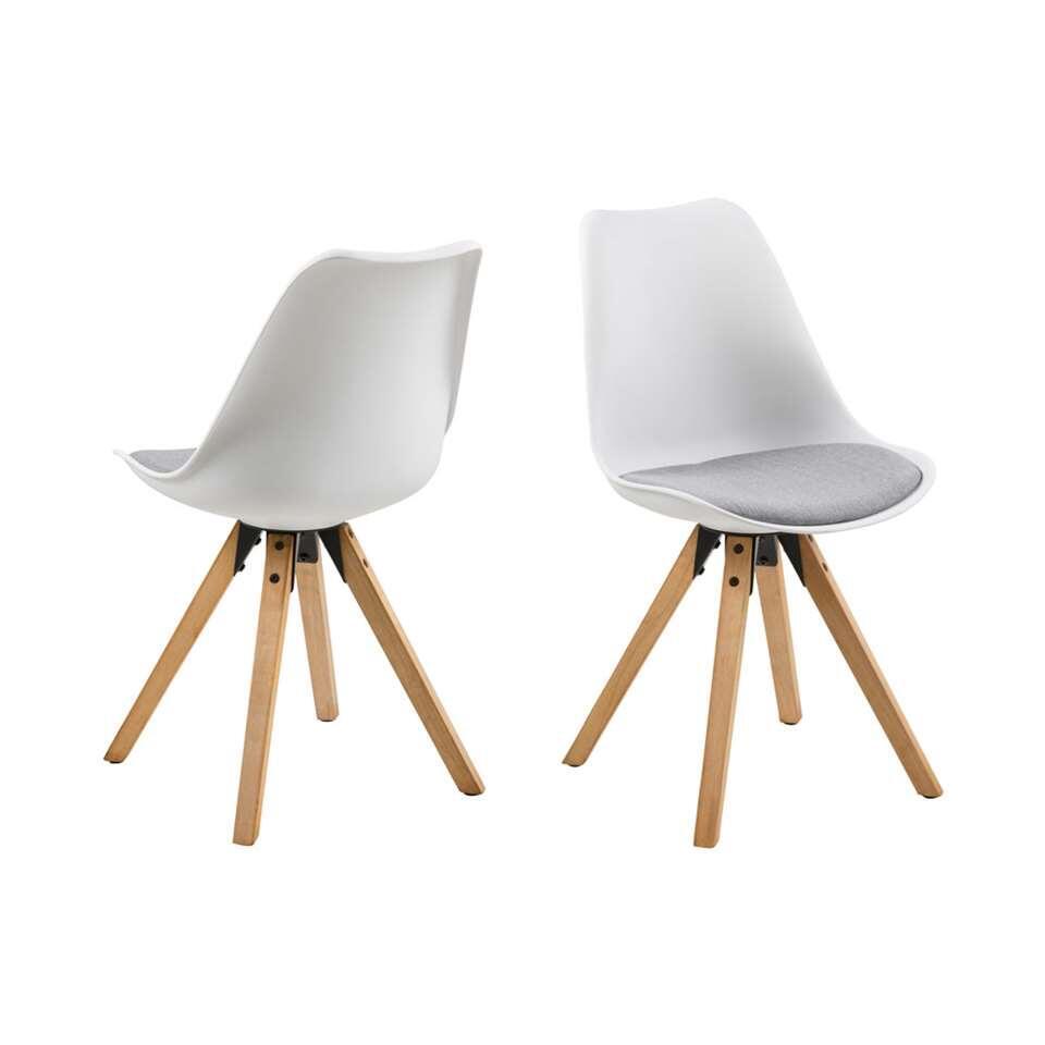 Chaise de salle manger verdal plastique blanche gris clair le lot de 2 - Chaise de salle a manger blanche ...