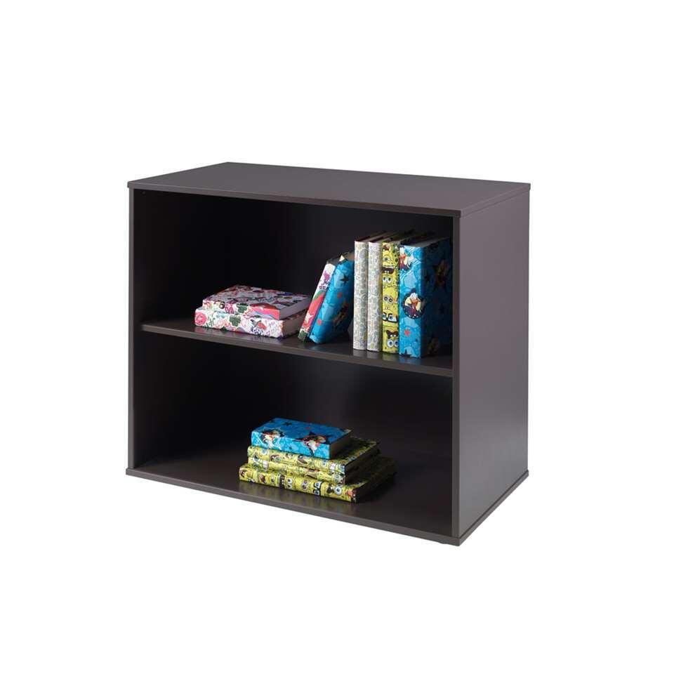vipack lit sur lev pino avec bureau rangement et tablette taupe. Black Bedroom Furniture Sets. Home Design Ideas