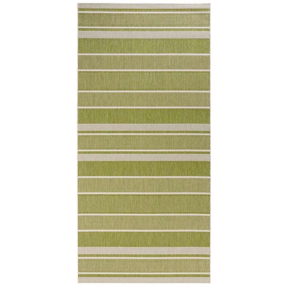 bougari tapis int rieur ext rieur strap vert 80x200 cm. Black Bedroom Furniture Sets. Home Design Ideas