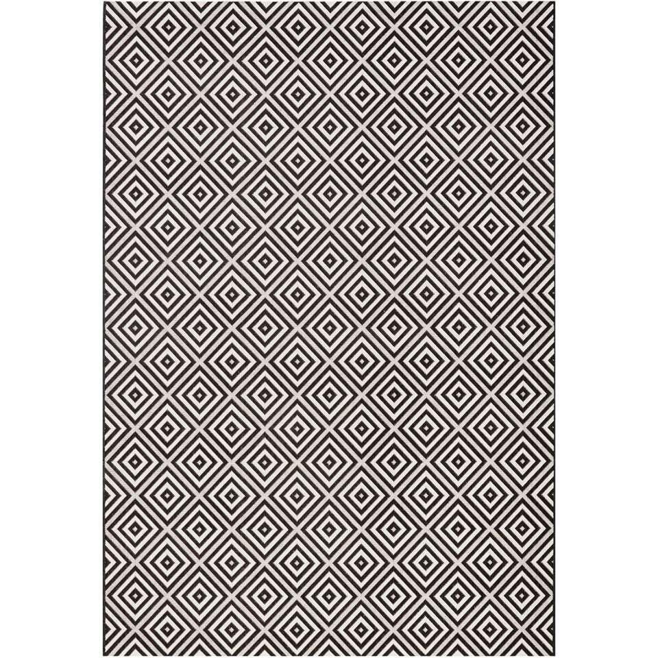 bougari tapis intrieurextrieur karo noir 160x230 cm - Tapis Exterieur