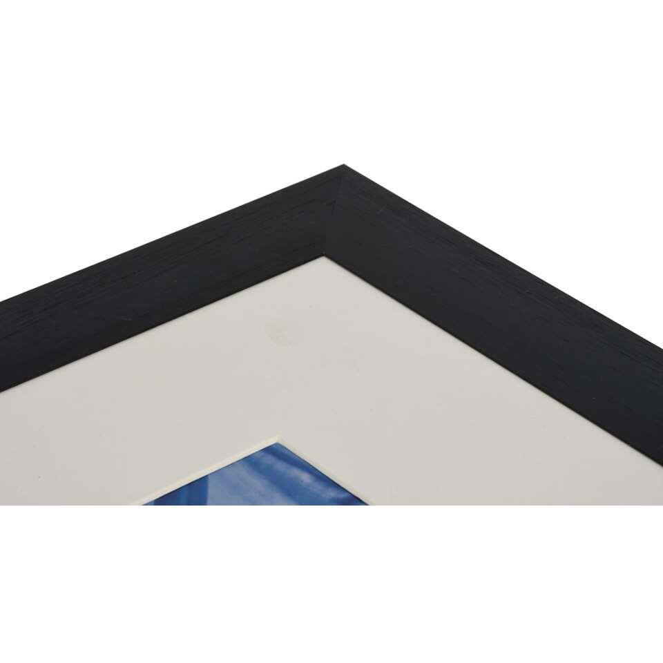 henzo cadre de photo luzern noir 50x70 cm. Black Bedroom Furniture Sets. Home Design Ideas